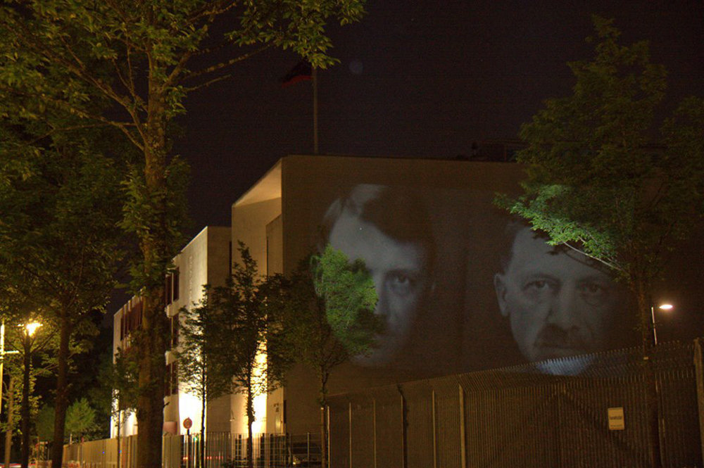 Turkey's Embassy Hit With Erdogan-Hitler Caricatures