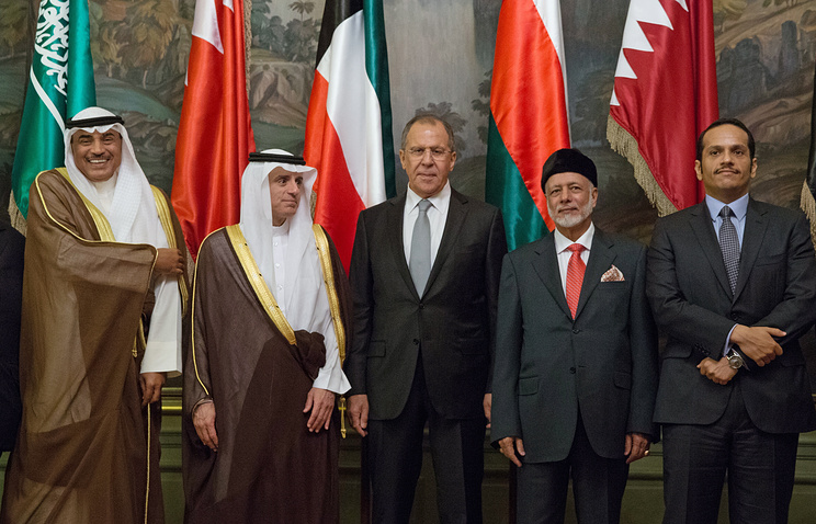 Lavrov and GCC discuss Middle Eastern Crises
