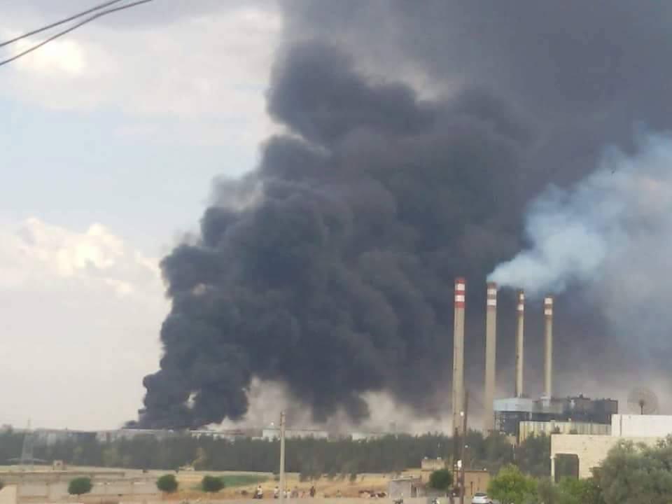 Syria: Militants Damage the Mhardeh Power Plant (Photos)