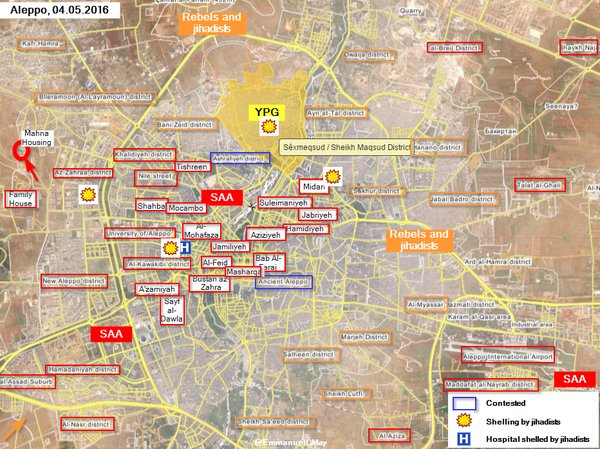 Syria: Military Situation in Aleppo. Army Takes Mahna Housing