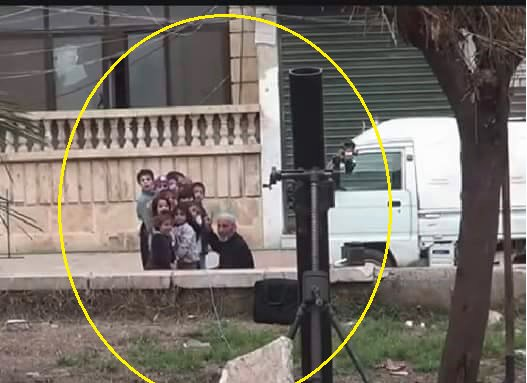 Syrian 'Moderate Rebels' Use Children as Human shield for Mortar Emplacement