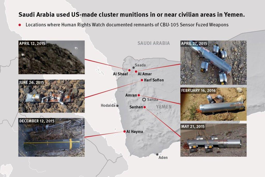 Saudi Arabia Uses US-made  Cluster Bombs against Civilan Areas in Yemen (Graphics)