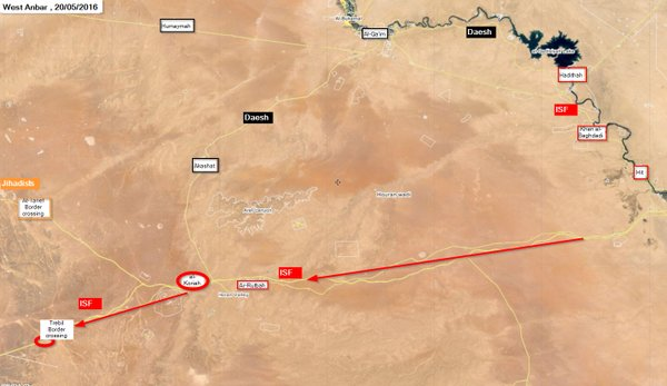 Iraqi Security Forces Liberate Road between Rutbah and Trebil Border Crossing
