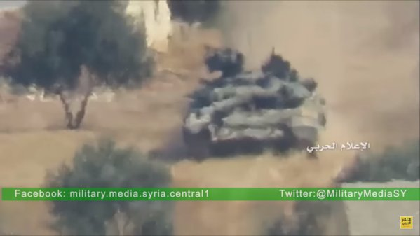 Militants Use US-made BGM-71 against Russian T-90 in Aleppo Province. Combined TOW shot / Drone Aftermath Video