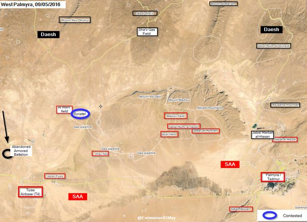 Syria: ISIS Takes Abandoned Armored Battalion Base in Homs Province