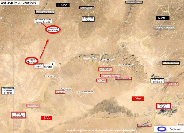 Syria's Army Takes Hills near Al-Mahr Field and Shaer Gas Field