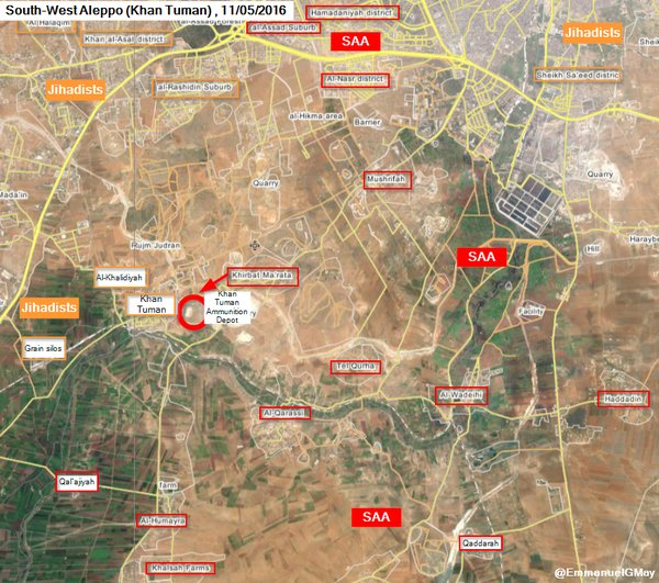 Heavy Clashes Ongoing at Khan Touman, Syria