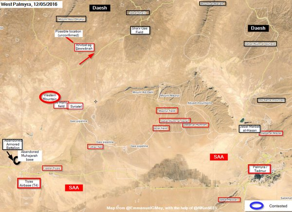ISIS Advances on T4 Airbase, Threatenes Communications to Palmyra