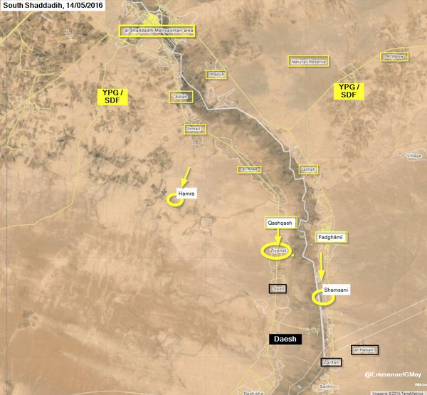 The Syrian Democratic Forces take back Hamra, Ziyanat and Shamsani from ISIS