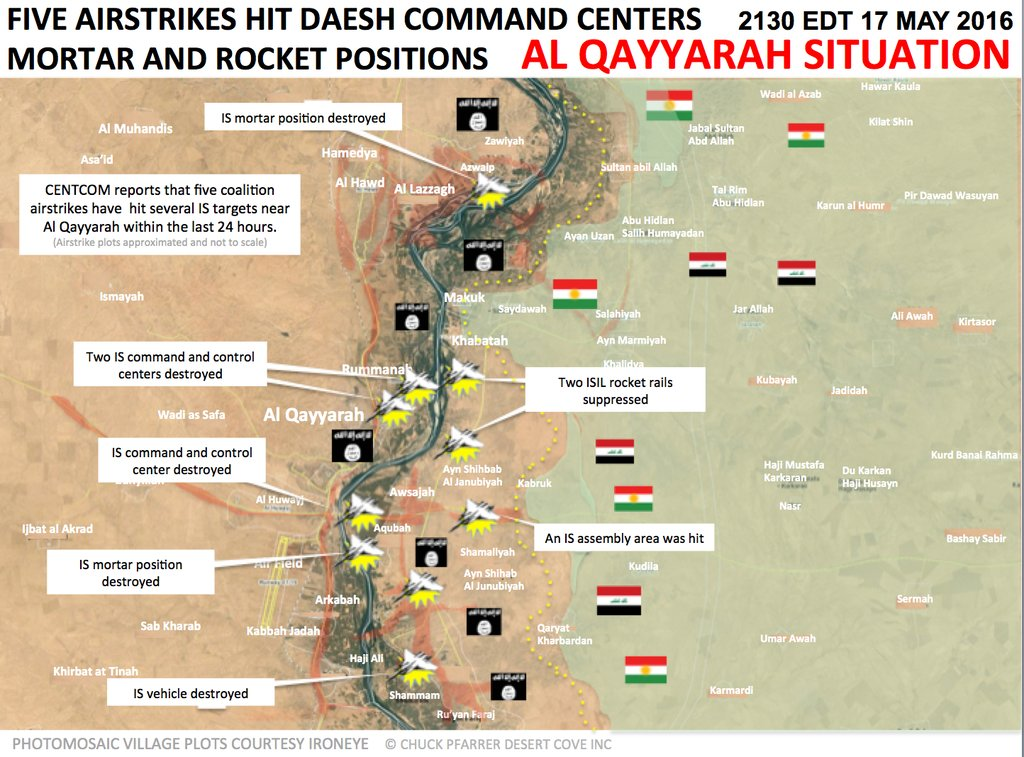 Military Situation in Iraq's Al Qayyarah on May 17