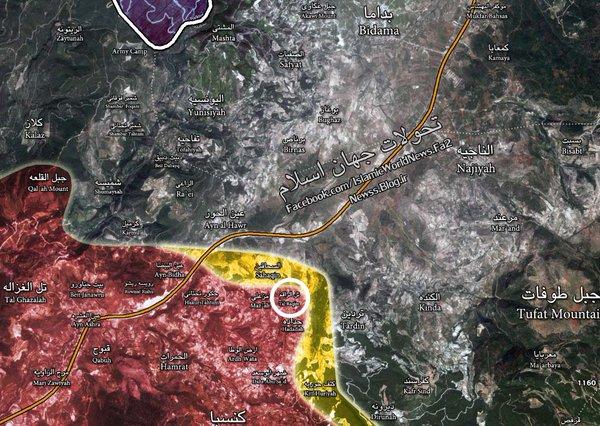 Syria's Army Liberates Tal Raqim in Latakia Province