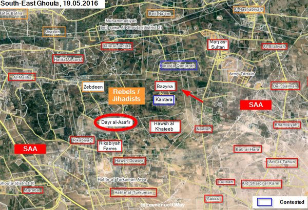 Breaking: Syrian Army Liberates Dayr al-Asafir in East Ghouta