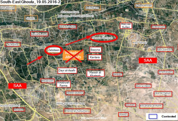 Syrian Army Purges 'Southe Pocket' in East Ghouta from Militants