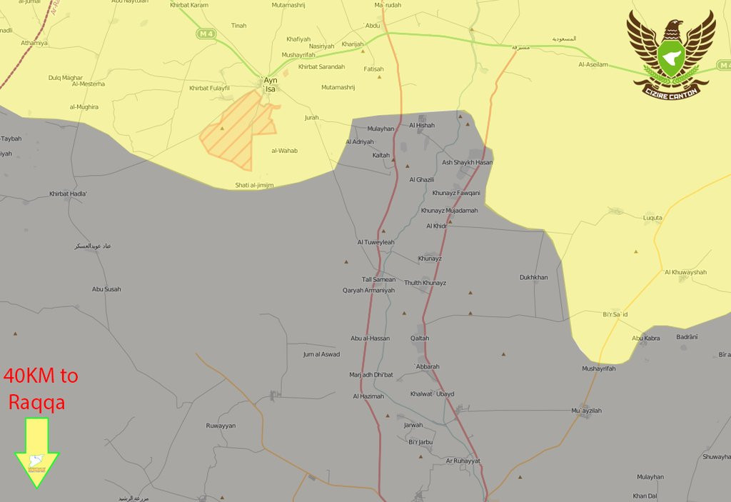 Military Situation in Northern Raqqa, Syria on May 26