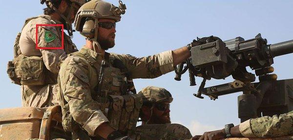 Fun fact: US SOF Soldier Wearing Patch of YPJ - All-Female Kurdish Militia