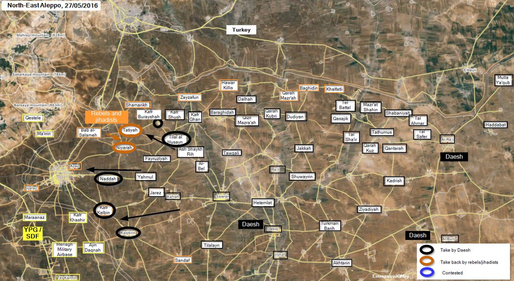 ISIS Reaches the Gates of Azaz in Northern Syria