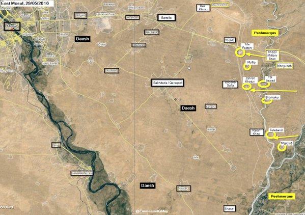 Iraq: Kurdish Peshmerga Seizes 7 Settlements from ISIS East of Mosul