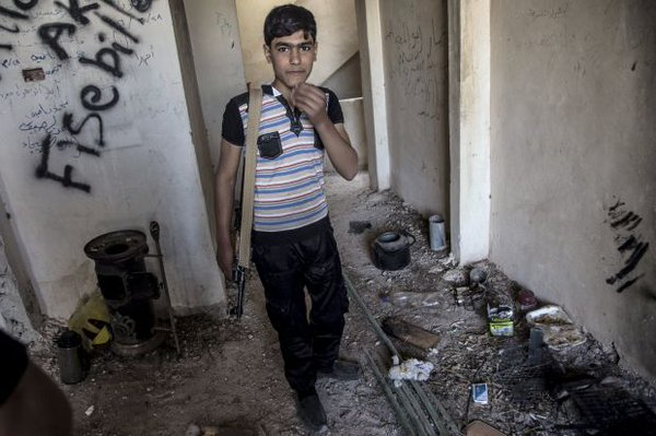 Western-backed Oppositioneers from Ahrar Al-Sham Use Child Soldiers at Syria's Hottests Fronts