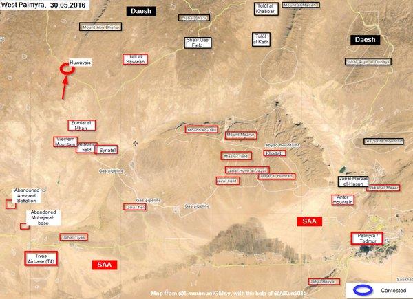 Syrian Army Takes Back Huwaysis in Palmyra Desert
