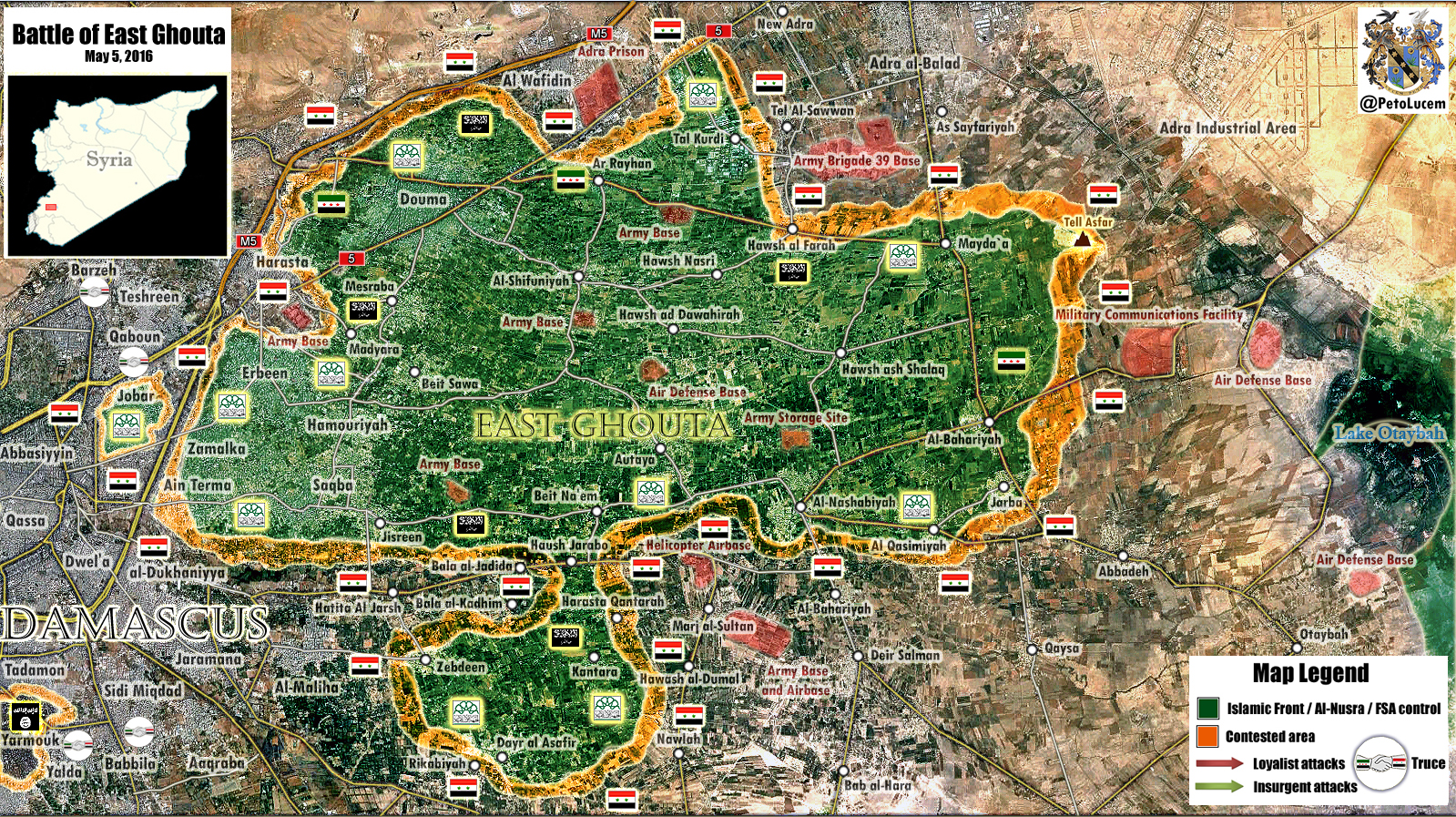 Syria: Military Situation in East Ghouta, Damasucs