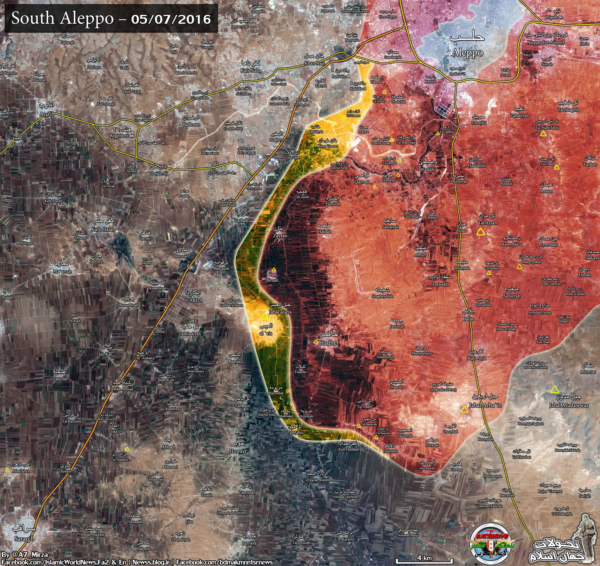 Syria: Heavy Clashes near Khan Touman in Aleppo Province