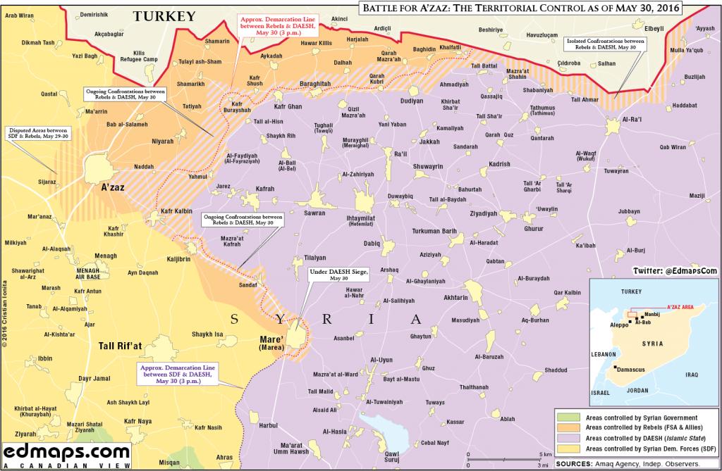 Syria: Battle for Azaz, May 30