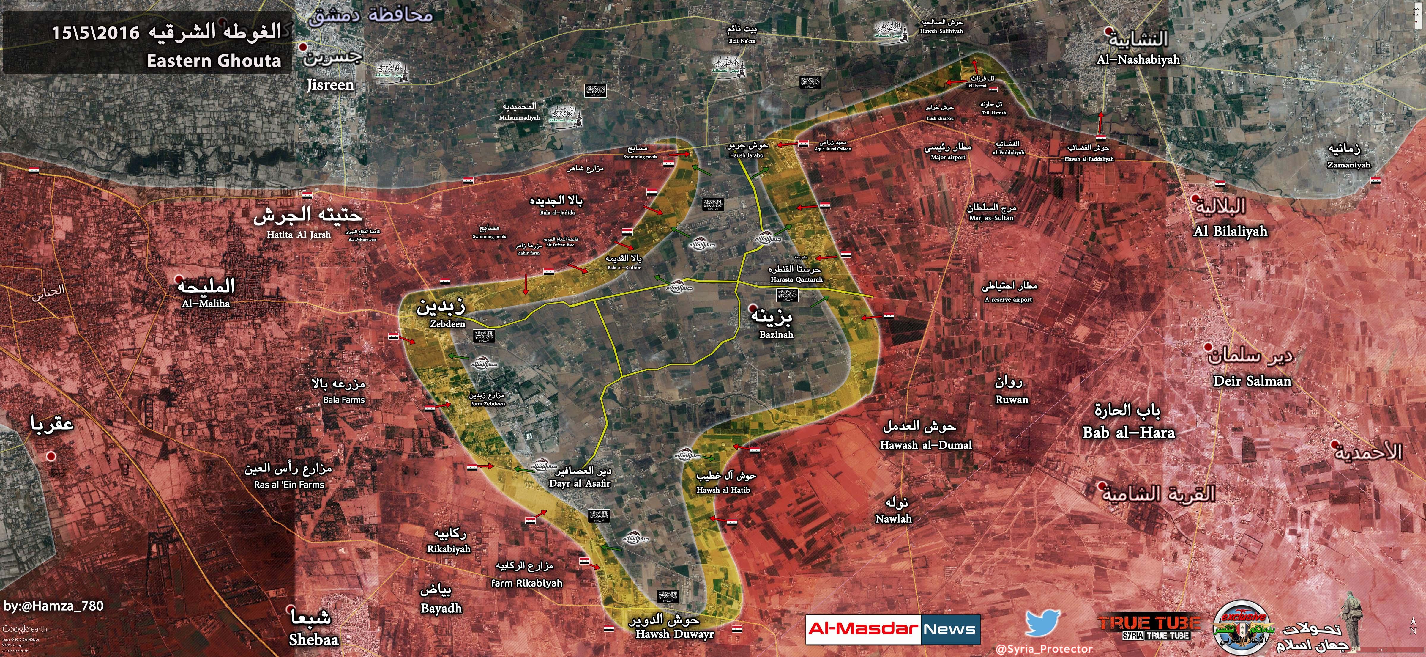 Syrian Army, Hezbollah assert fire control over Deir Al-Assafir
