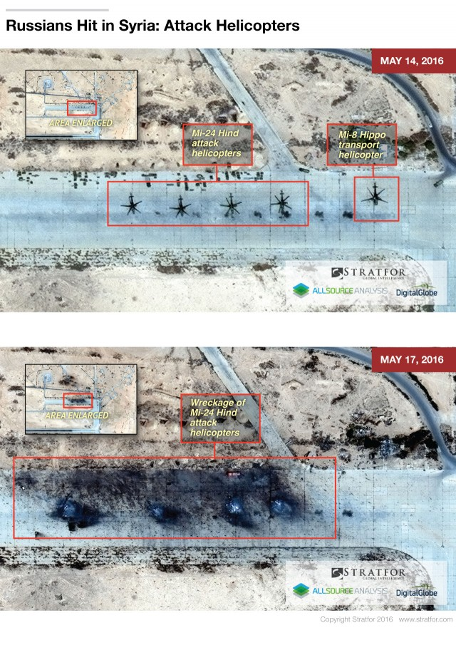 Satellite Imagery Prove that 4 Russian Mi-24 Attack Helicopters Have Been Destroyed in Syria?