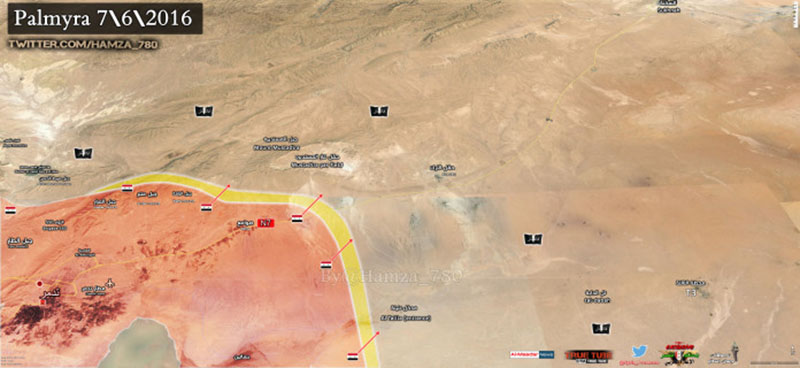 Syrian Army reaches Talilah Crossroad in southeast Palmyra