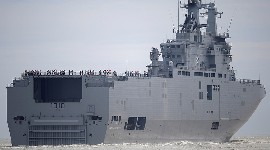 France Hands over First 'ex-Russian' Mistral Helicopter Carrier to Egypt