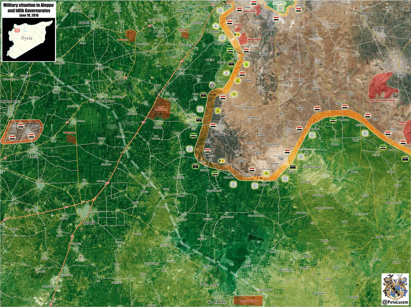 Military Situation in Aleppo and Idlib Provinces on June 18