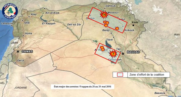 French Airstrikes in Iraq May 25-31, 2016