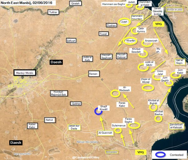 Syrian Democratic Forces Take Control of Al-Madasah and 17 more Villages in Northern Raqqa