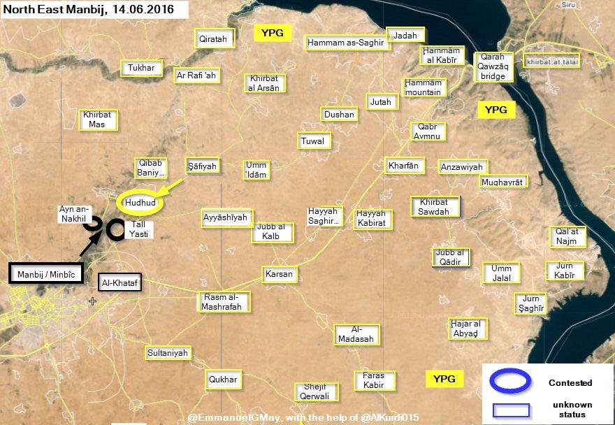 Syrian Democratic Forces Take Back Hudhud near Manbij