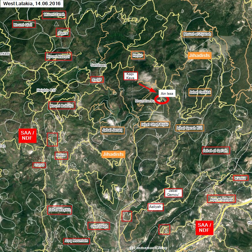 Syrian Army Takes Ain Issa, Fights to Take Control of Strategic High Points in Latakia