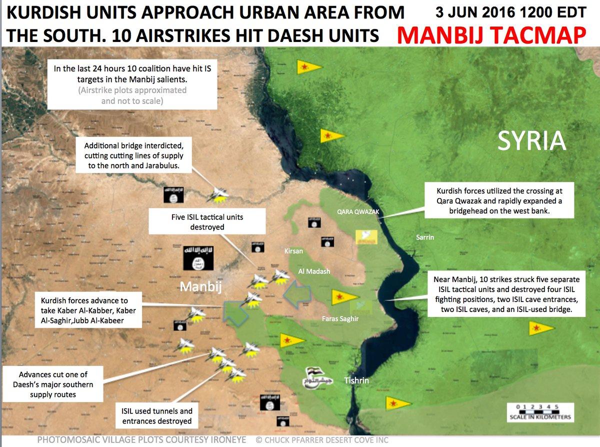US-led Coalition Airstrikes near Manbij, Syria