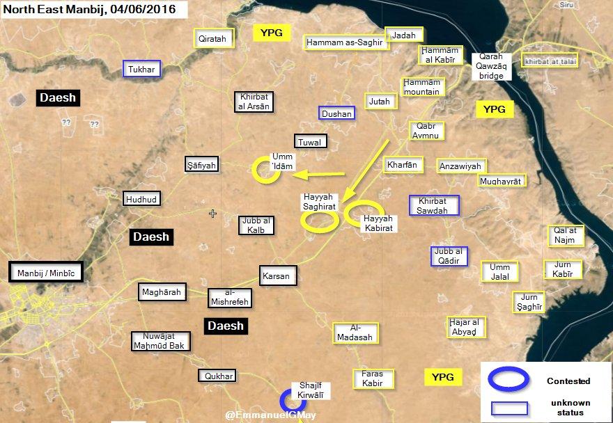 Syrian Democratic Forces Seize 3 More Vilalges in Manbij Area