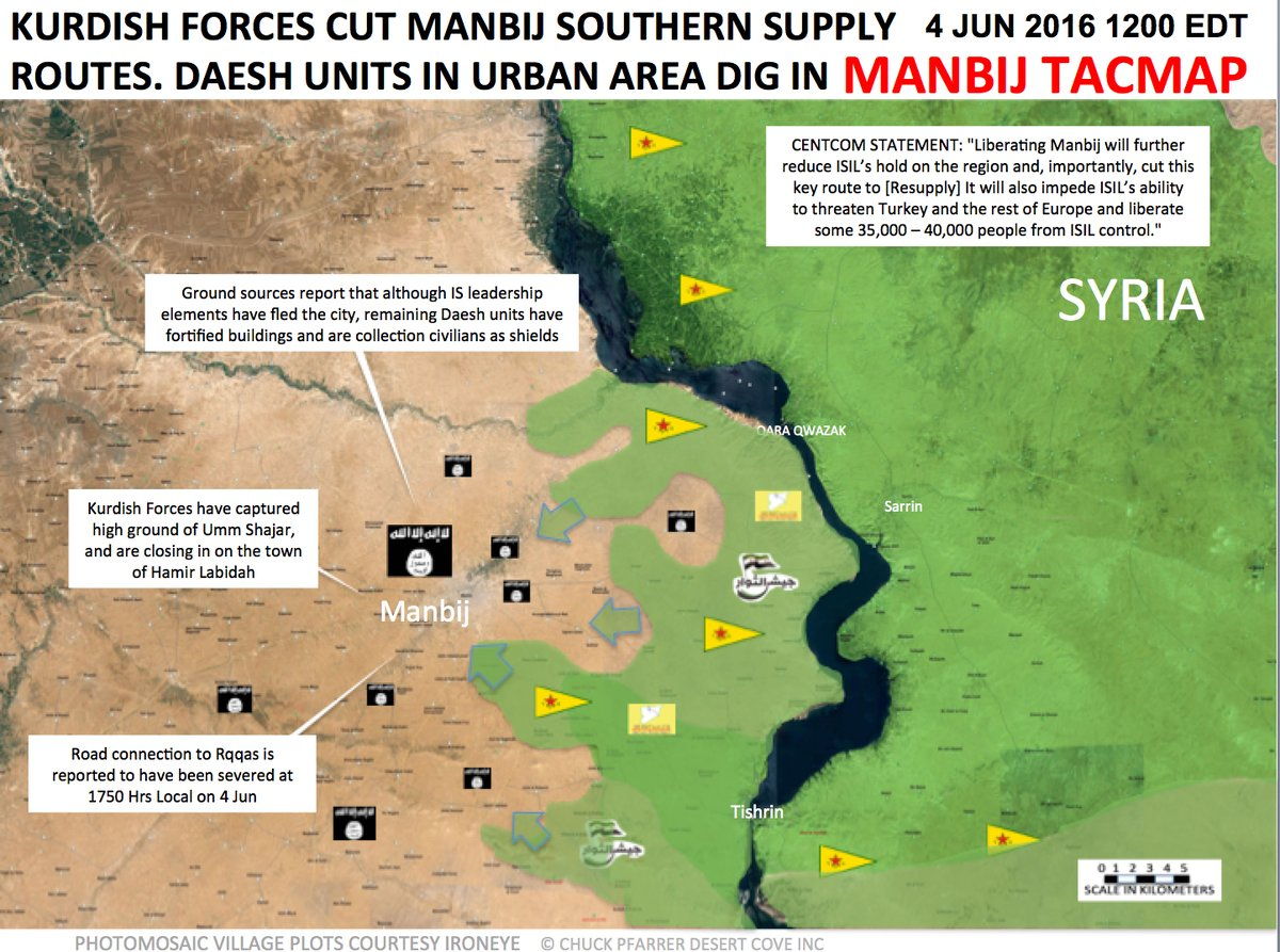Syrian Democratic Forces Seize 3 More Vilalges in Manbij Area