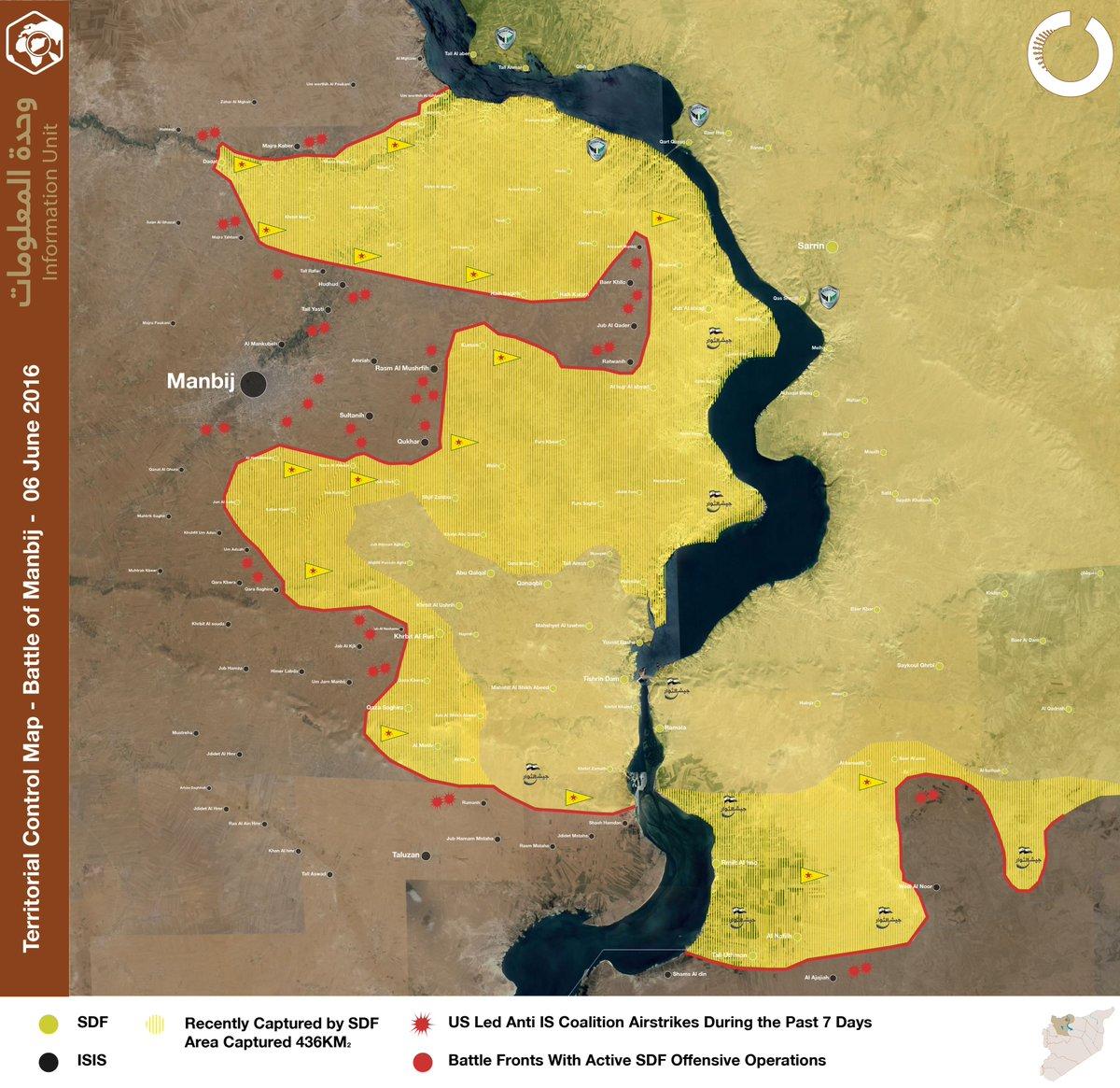 Syria: Battle for Manbij on June 6