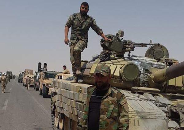 Syrian Army En Route to Deir El Zor