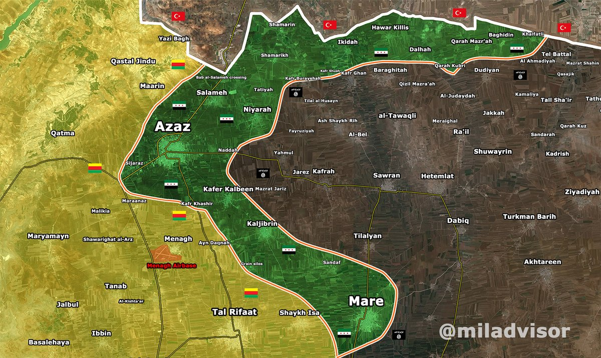 Military Situation in North Aleppo, Syria on June 8