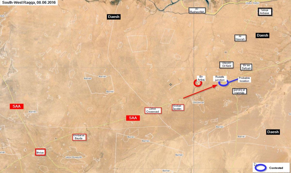 Syrian Army Enters Rasafeh Crossroads