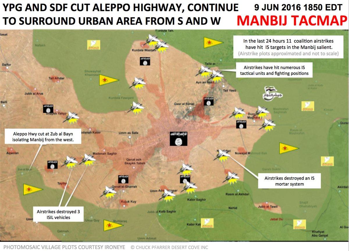 U.S.-led Coalition Airstrikes near Manbij, Syria