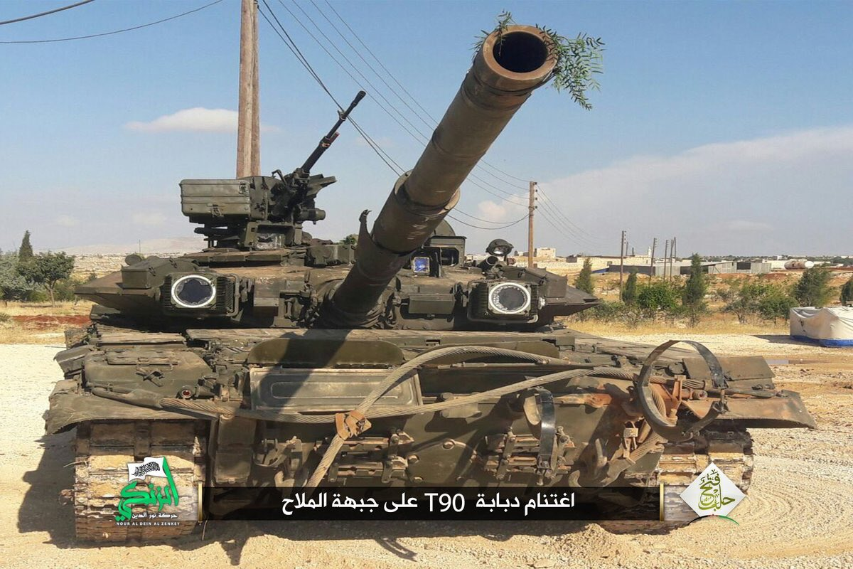 Militants Captured First Russian-Made T90 Battle Tank Ever
