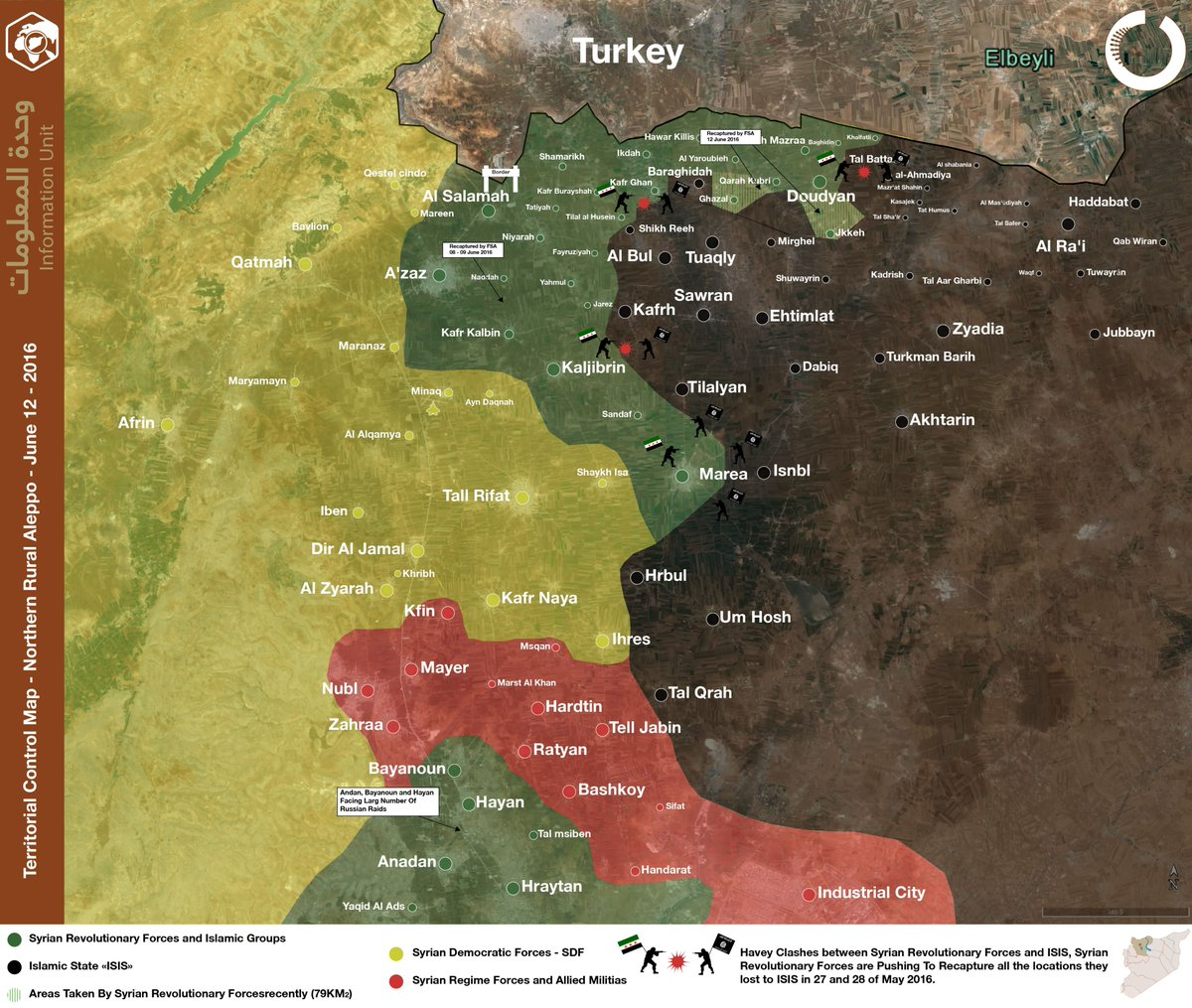 Military Situation in North Aleppo on June 12
