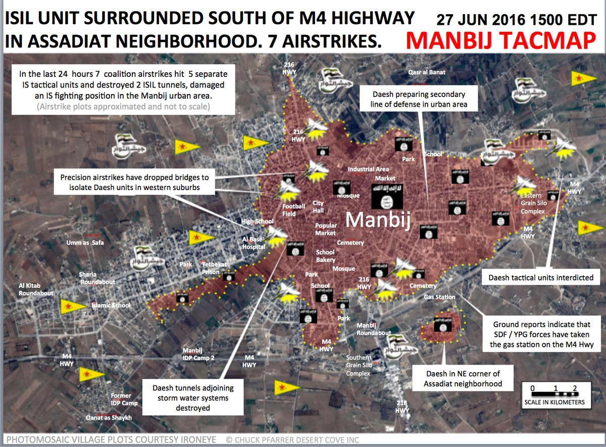 Syrian Democratic Forces Advancing to Center of Manbij