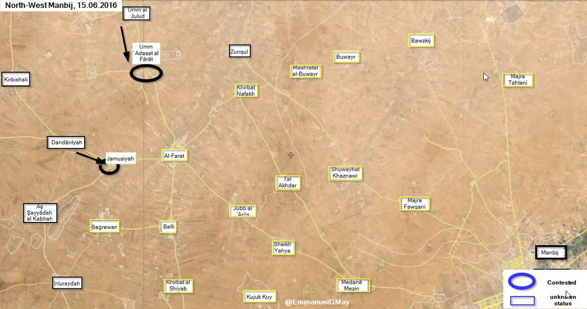 ISIS Takes Back 2 Villages near Manbij. U.S. Coalition Claims End of First Phase of Operation in Area