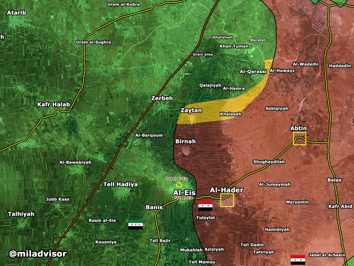 Military Situation in Southern Aleppo, Syria