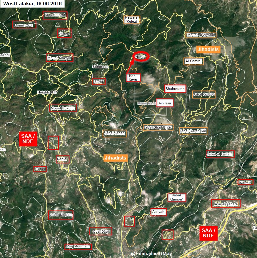 Syrian Army Takes Hayat from Militants in Western Latakia