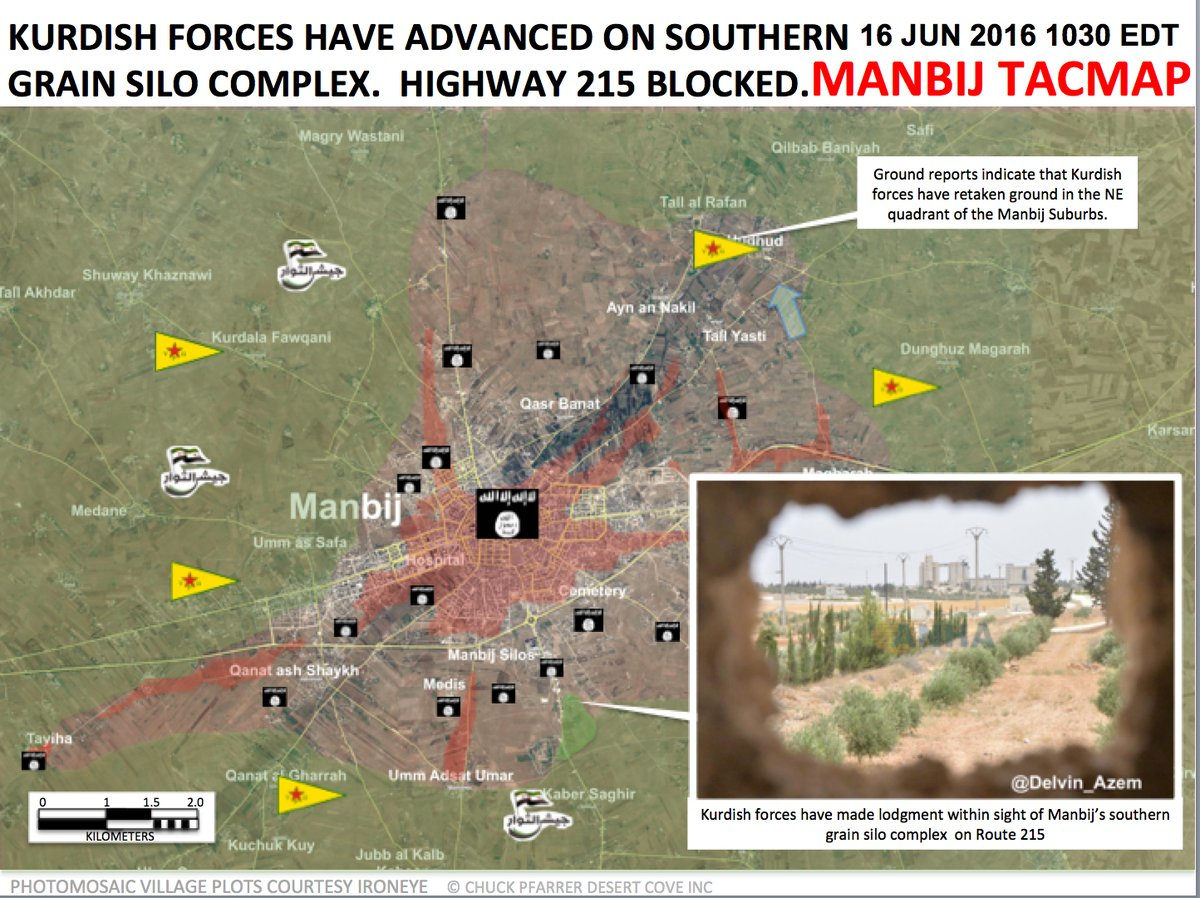 Clashes for Syria's Manbij on June 16